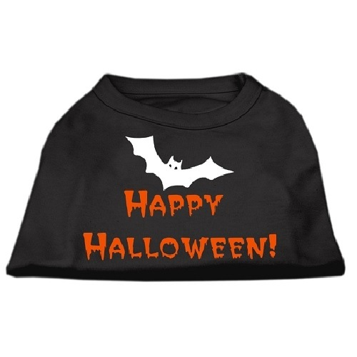 Happy Halloween Screen Print Dog Shirt - Black | The Pet Boutique