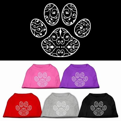 Henna Paw Screen Print Pet Shirt | The Pet Boutique