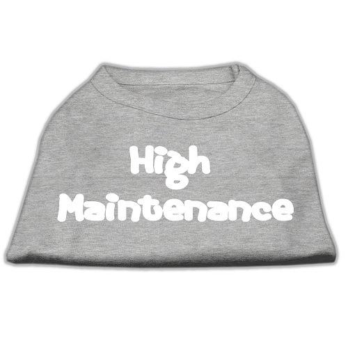 High Maintenance Screen Print Pet Shirt - Grey | The Pet Boutique