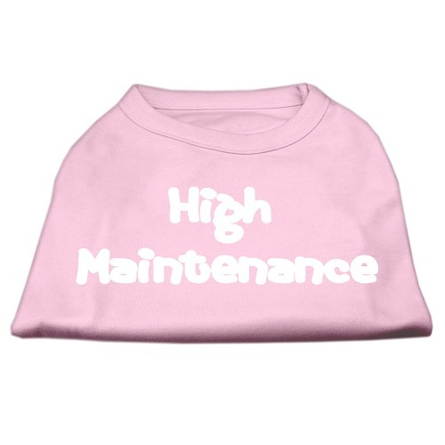 High Maintenance Screen Print Pet Shirt - Light Pink | The Pet Boutique