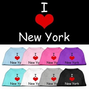 I Love New York Screen Print Pet Shirt | The Pet Boutique