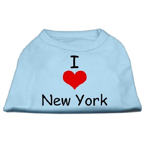 I Love New York Screen Print Pet Shirt - Baby Blue | The Pet Boutique