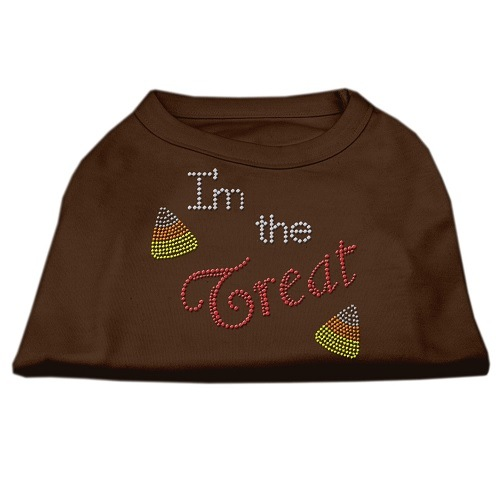 I'm the Treat Rhinestone Dog Shirt - Brown | The Pet Boutique