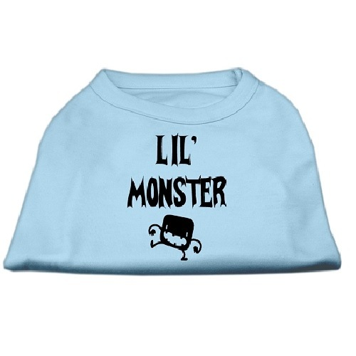 Lil Monster Screen Print Dog Shirt - Baby Blue | The Pet Boutique