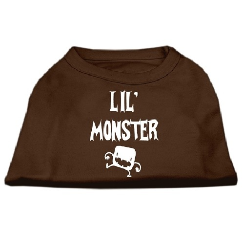 Lil Monster Screen Print Dog Shirt - Brown | The Pet Boutique