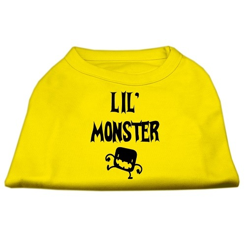 Lil Monster Screen Print Dog Shirt - Yellow | The Pet Boutique