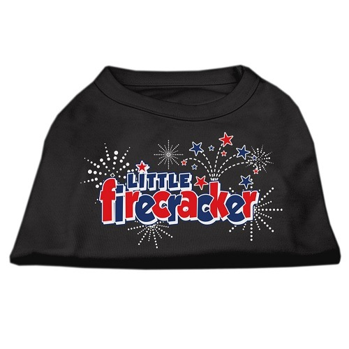 Little Firecracker Screen Print Pet Shirt - Black | The Pet Boutique