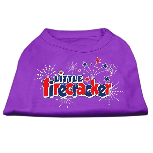 Little Firecracker Screen Print Pet Shirt - Purple | The Pet Boutique