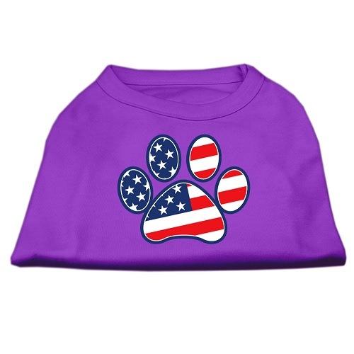 Patriotic Paw Screen Print Dog Shirt - Purple | The Pet Boutique