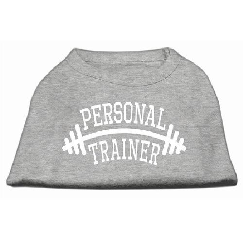 Personal Trainer Screen Print Pet Shirt - Grey   The Pet Boutique
