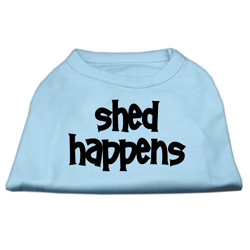 Shed Happens Screen Print Pet Shirt - Baby Blue | The Pet Boutique