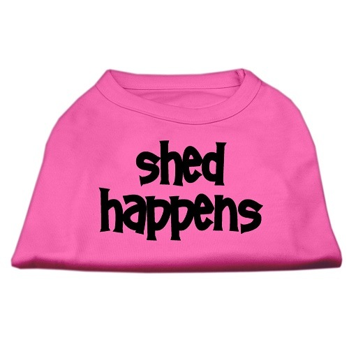 Shed Happens Screen Print Pet Shirt - Bright Pink | The Pet Boutique