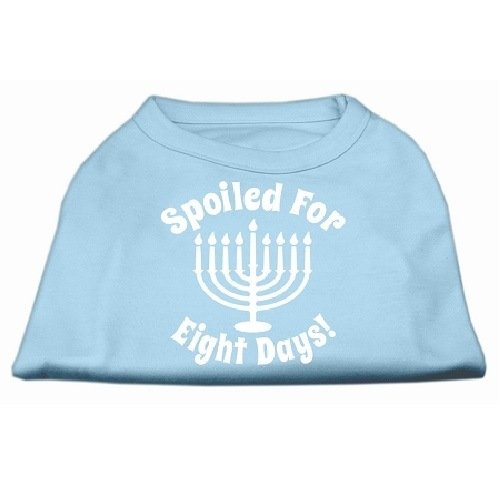 Spoiled for 8 Days Screen Print Dog Shirt - Baby Blue   The Pet Boutique