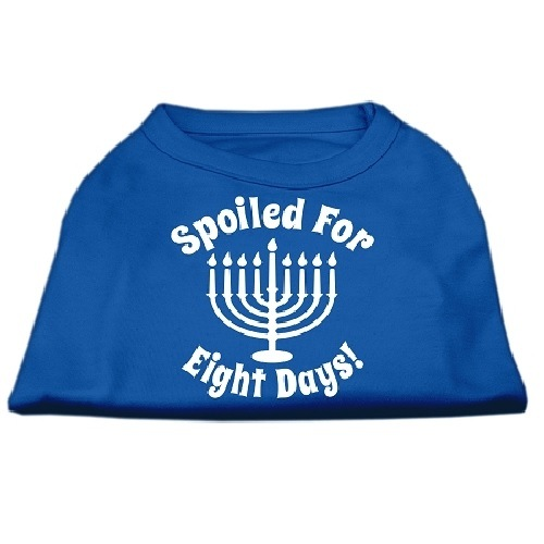 Spoiled for 8 Days Screen Print Dog Shirt - Blue   The Pet Boutique