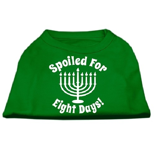 Spoiled for 8 Days Screen Print Dog Shirt - Emerald Green   The Pet Boutique