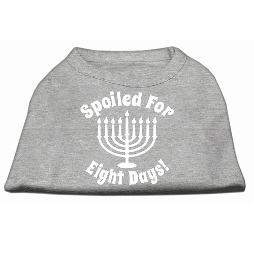 Spoiled for 8 Days Screen Print Dog Shirt - Grey   The Pet Boutique