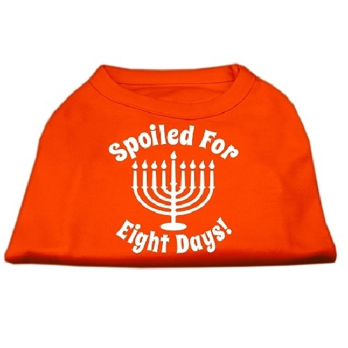 Spoiled for 8 Days Screen Print Dog Shirt - Orange   The Pet Boutique
