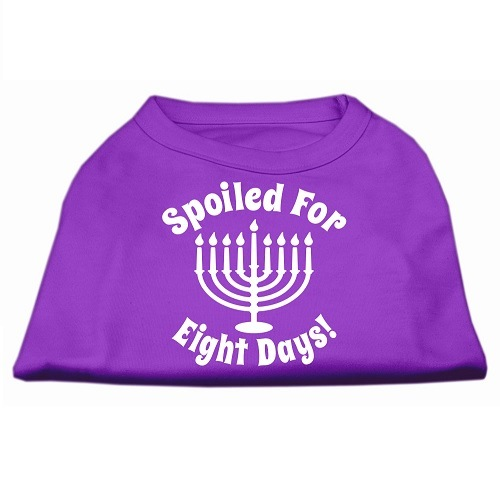 Spoiled for 8 Days Screen Print Dog Shirt - Purple   The Pet Boutique