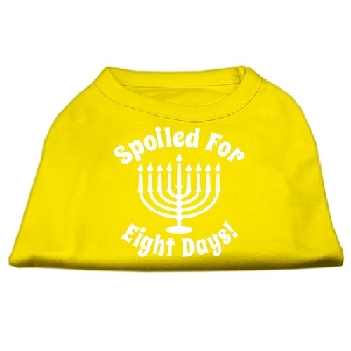 Spoiled for 8 Days Screen Print Dog Shirt - Yellow   The Pet Boutique