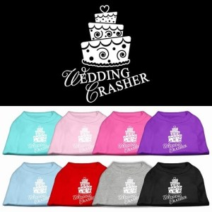 Wedding Crasher Screen Print Pet Shirt | The Pet Boutique