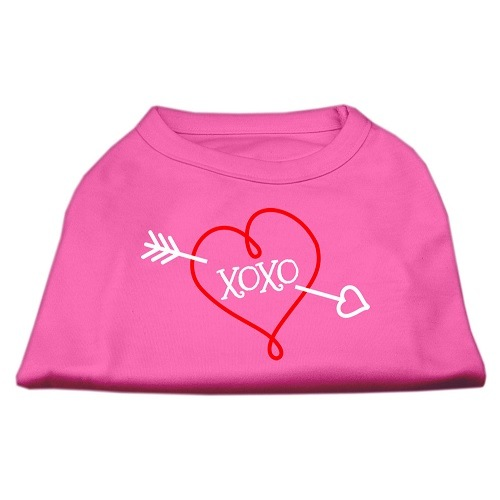 XOXO Screen Print Pet Shirt - Bright Pink | The Pet Boutique