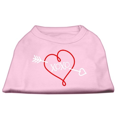 XOXO Screen Print Pet Shirt - Light Pink | The Pet Boutique