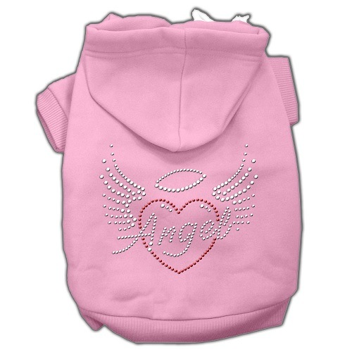 Angel Heart Rhinestone Pet Hoodie - Pink | The Pet Boutique