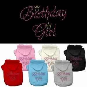 Birthday Girl Rhinestone Pet Hoodie | The Pet Boutique