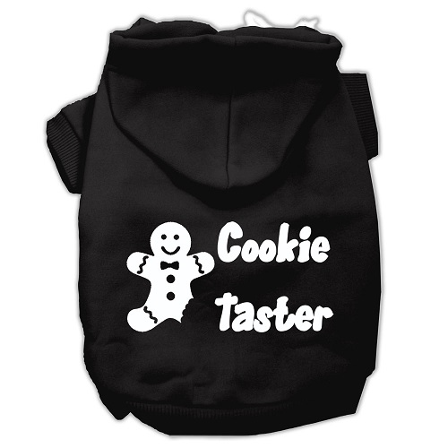 Cookie Taster Screen Print Pet Hoodie - Black | The Pet Boutique