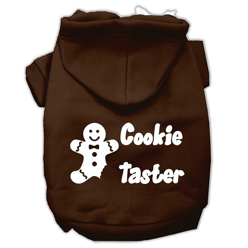 Cookie Taster Screen Print Pet Hoodie - Brown | The Pet Boutique