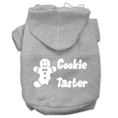 Cookie Taster Screen Print Pet Hoodie - Grey | The Pet Boutique