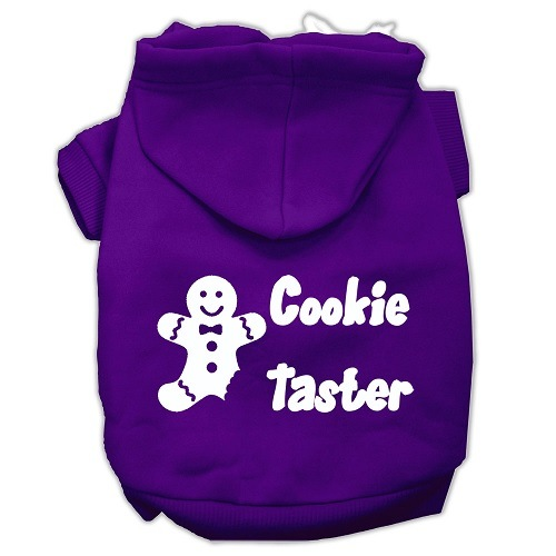 Cookie Taster Screen Print Pet Hoodie - Purple | The Pet Boutique
