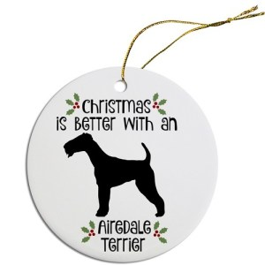 Round Christmas Ornament - Airedale Terrier | The Pet Boutique