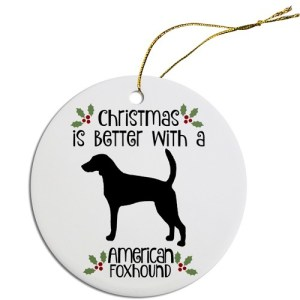 Round Christmas Ornament - American Foxhound | The Pet Boutique