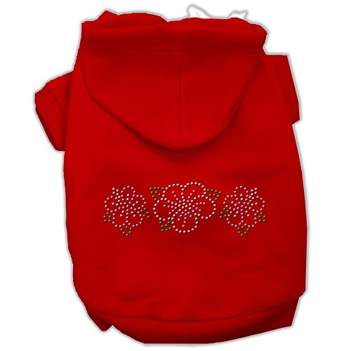 Tropical Flowers Rhinestone Pet Hoodie - Red | The Pet Boutique
