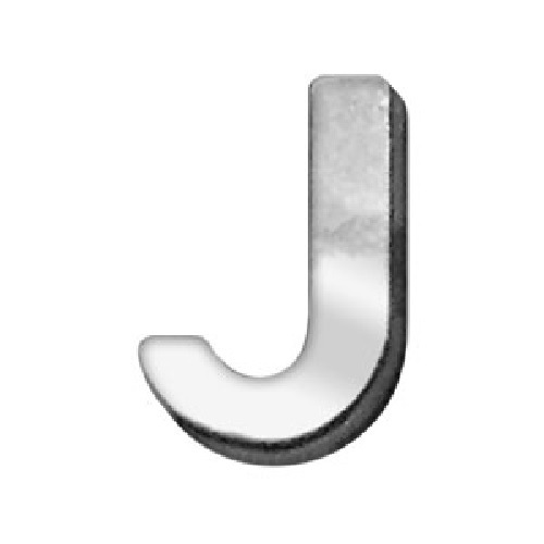 18mm Chrome Letter Sliding Collar Charm - J | The Pet Boutique