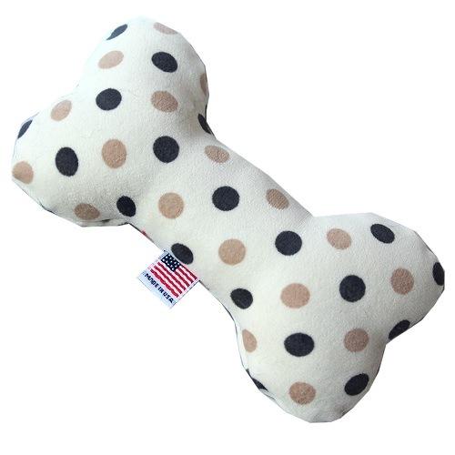 6-Inch Plush Bone Dog Toy - Beach Dots   The Pet Boutique