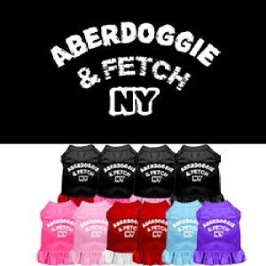 Aberdoggie NY Screen Print Pet Dress | The Pet Boutique