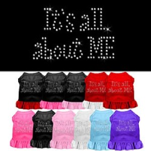 All About Me Rhinestone Pet Dress | The Pet Boutique