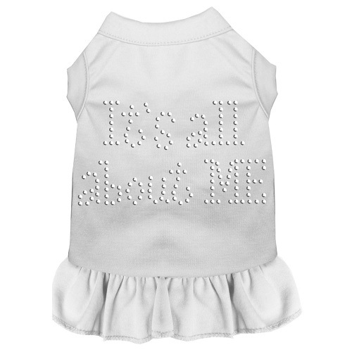 All About Me Rhinestone Pet Dress - White | The Pet Boutique