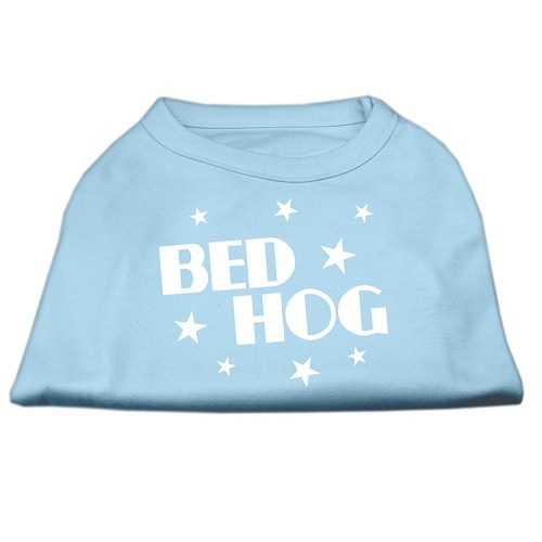 Bed Hog Screen Print Dog Shirt - Baby Blue | The Pet Boutique