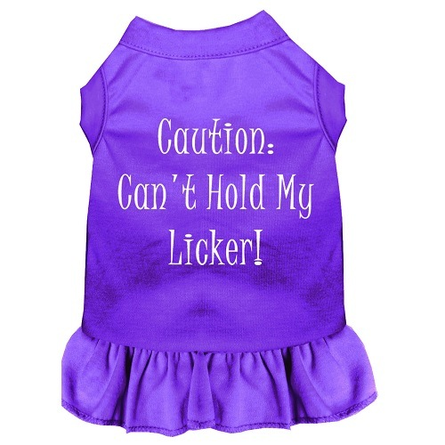 Can't Hold My Licker Screen Print Pet Dress - Purple | The Pet Boutique