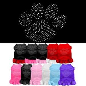 Clear Paw Rhinestone Pet Dress | The Pet Boutique
