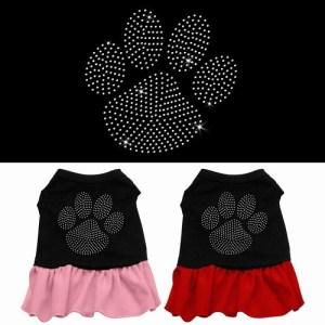 Clear Paw Rhinestone Pet Dress - Color Combo | The Pet Boutique