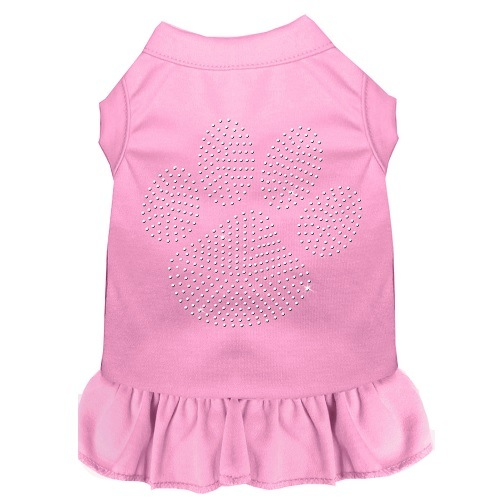 Clear Paw Rhinestone Pet Dress - Light Pink   The Pet Boutique