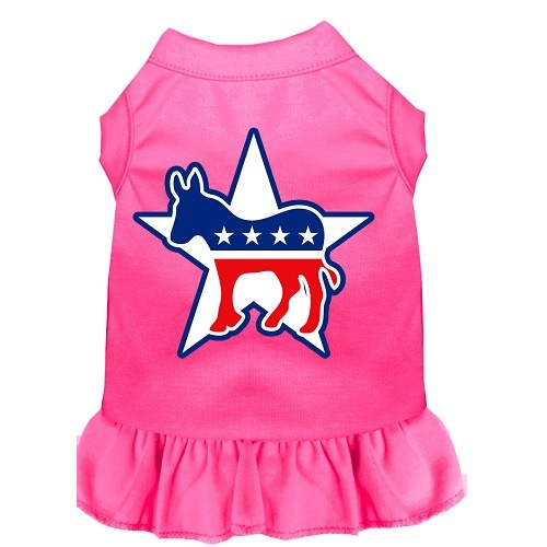 Democrat Screen Print Pet Dress - Bright Pink | The Pet Boutique
