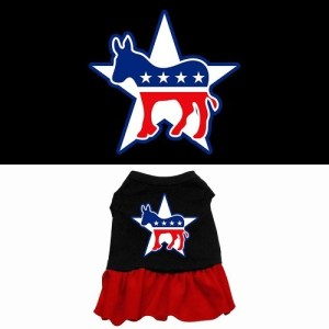 Democrat Screen Print Pet Dress - Color Combo | The Pet Boutique