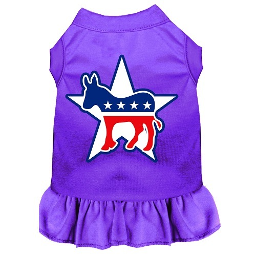 Democrat Screen Print Pet Dress - Purple | The Pet Boutique