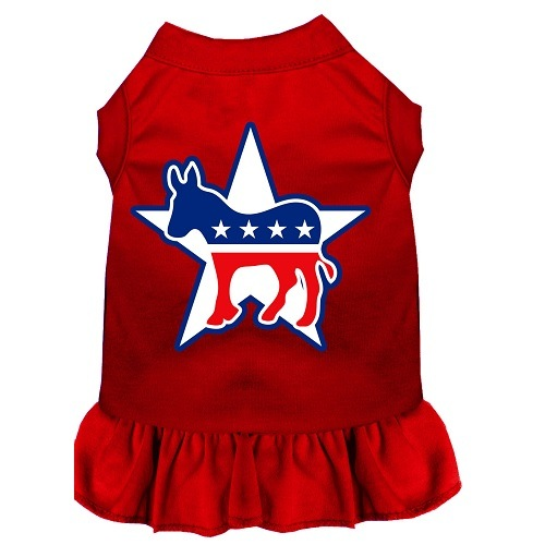 Democrat Screen Print Pet Dress - Red | The Pet Boutique