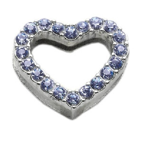 Heart Slider Collar Charm - Blue | The Pet Boutique